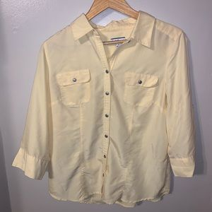 Croft and Barrow Yellow Blouse